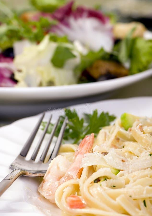 Download Salmon And Shrimp Fettuccine Stock Photo - Image of organic, fish: 2984202