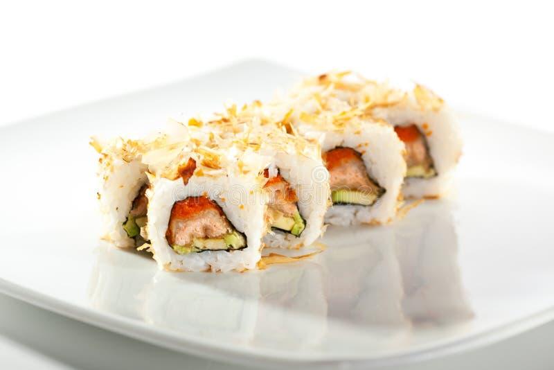 Salmon Skin Maki Sushi immagini stock libere da diritti