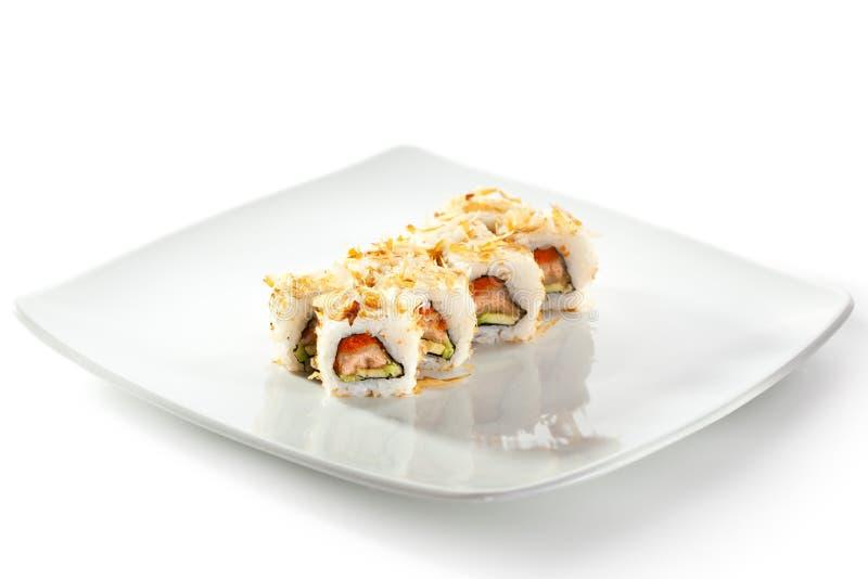 Salmon Skin Maki Sushi immagine stock