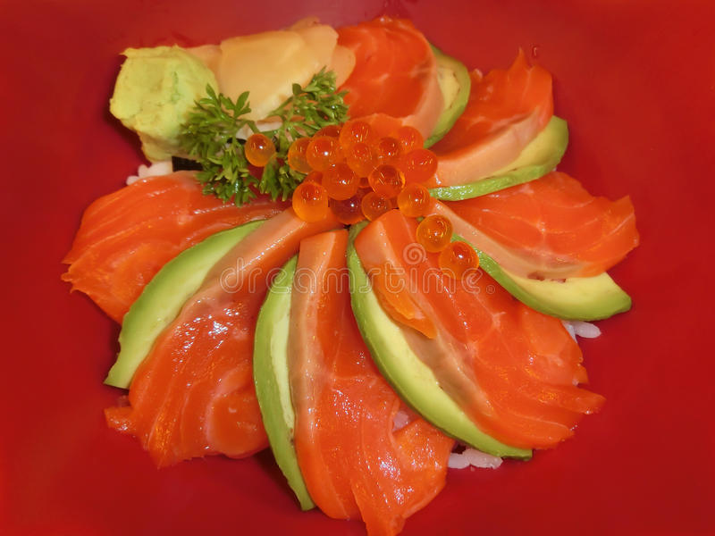 Salmon Slice images stock