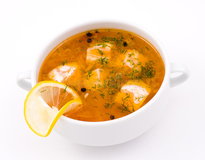 Download Salmon soup stock image. Image of course, oily, broth - 19156349
