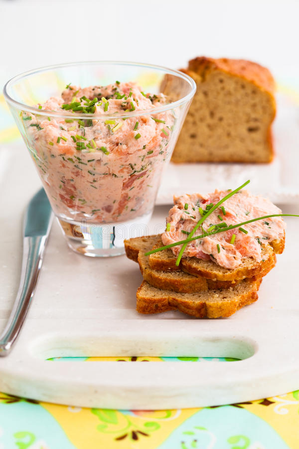 Salmon spread stock image