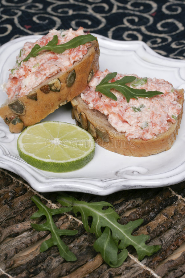 Salmon Spread V royalty free stock photos