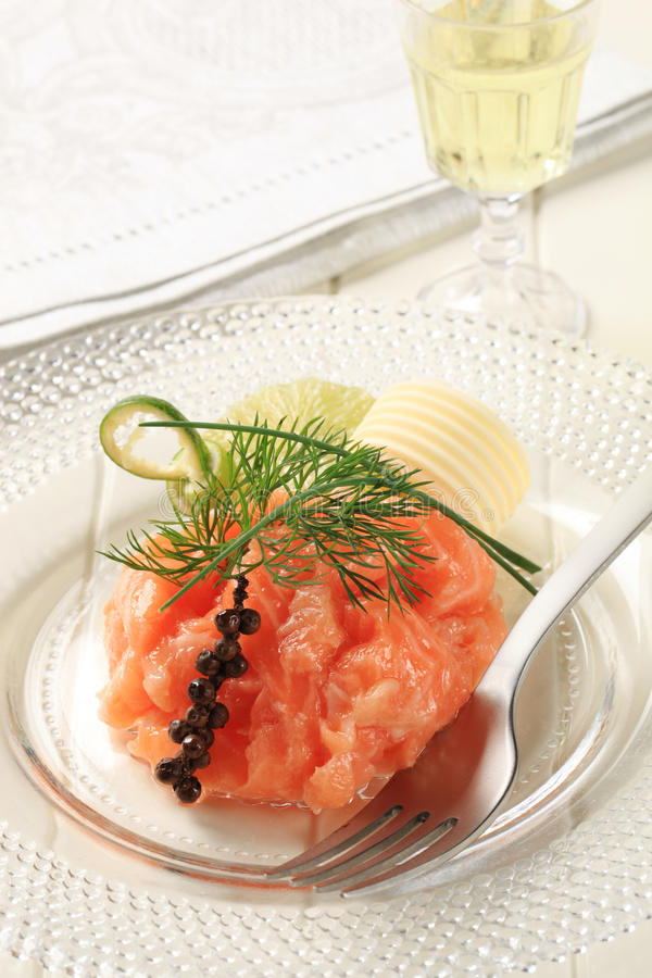 Salmon starter royalty free stock images