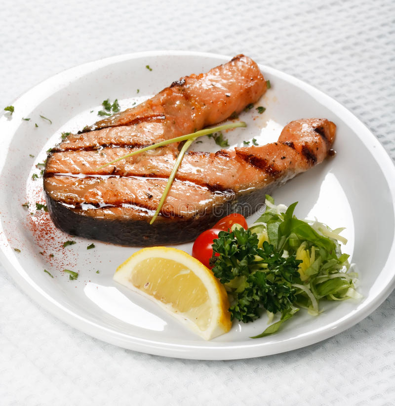 Salmon steak stock photography