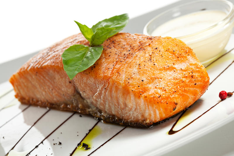 Salmon Steak arkivbild