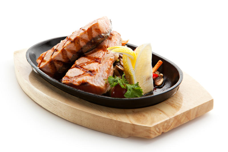 Salmon Steak image libre de droits