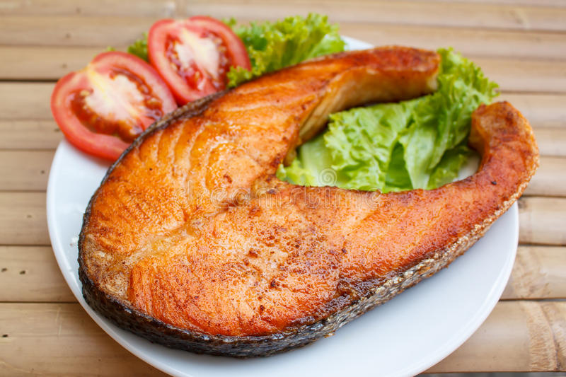 Salmon Steak arkivfoto