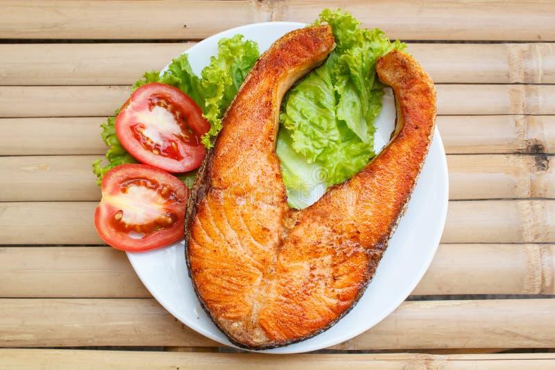 Salmon Steak fotografia de stock royalty free