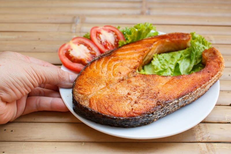 Salmon Steak imagem de stock