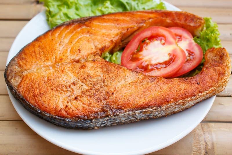 Salmon Steak imagem de stock royalty free