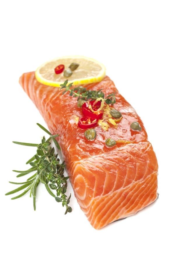 Salmon Steak crudo fotografie stock