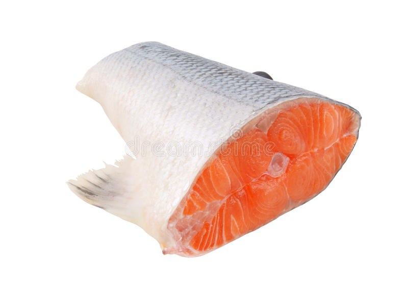 Salmon steak isolated royalty free stock photo