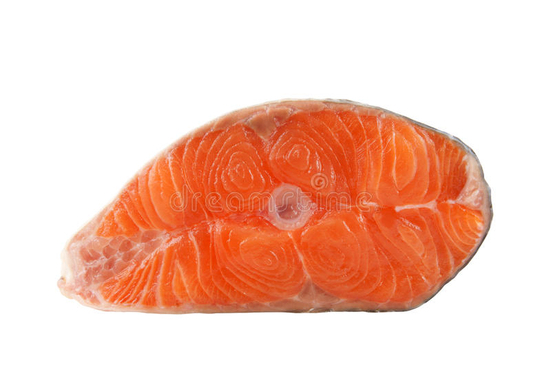 Salmon steak isolated royalty free stock images