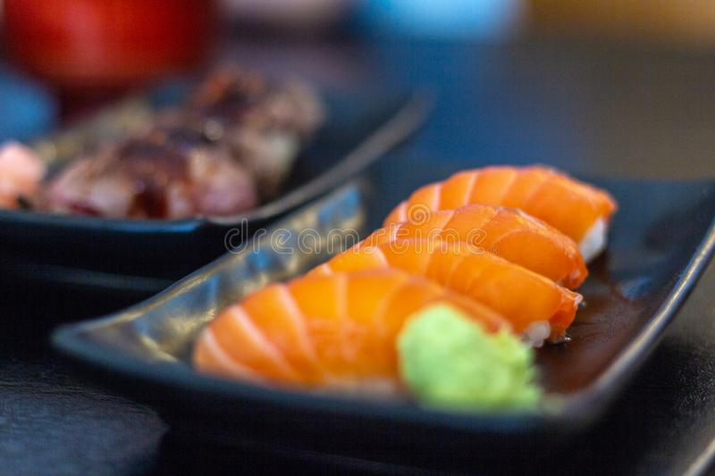 Salmon Sushi Aumai Phayao photo libre de droits
