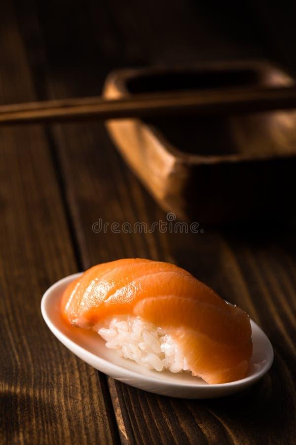 Salmon Sushi Nigiri arkivbild