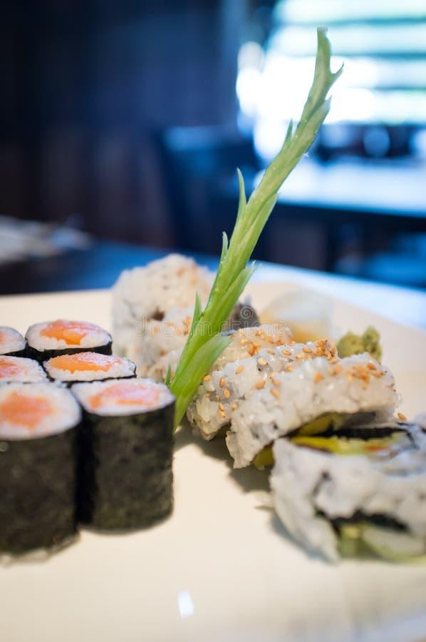 Salmon Sushi Roll immagine stock libera da diritti