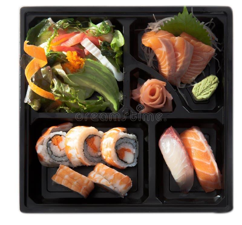 Salmon sushi roll Japanese bento stock photography