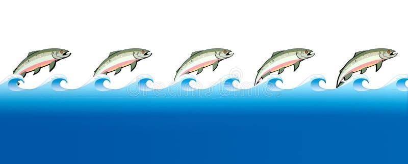 Salmon Swimming Upstream illustration libre de droits