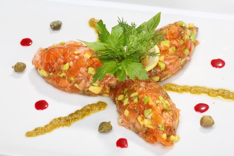 salmon tartar стоковое фото