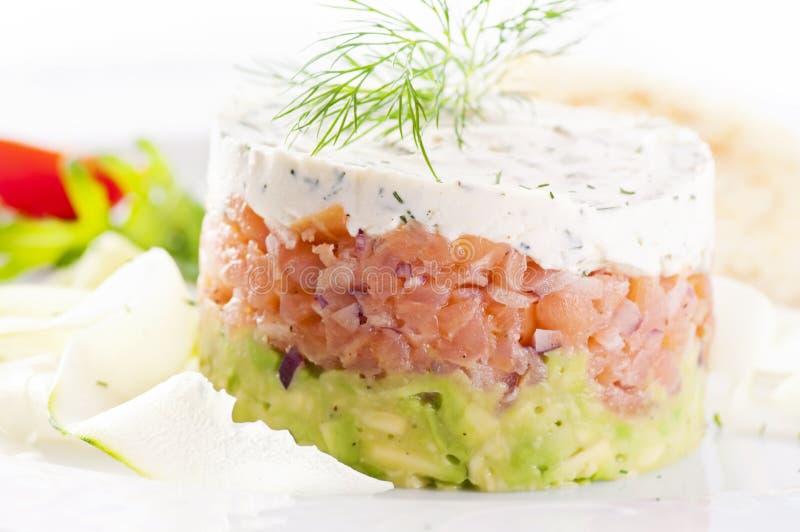 Salmon tartare royalty free stock photos