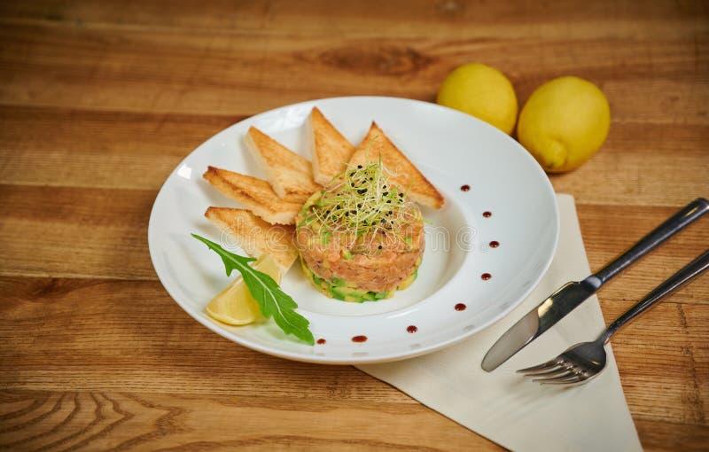 Salmon tartare royalty free stock images