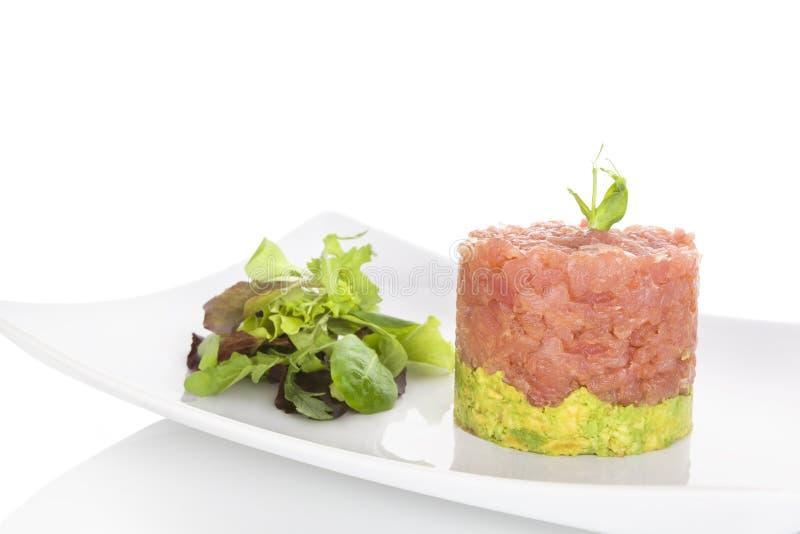 Salmon tartare. stock photos