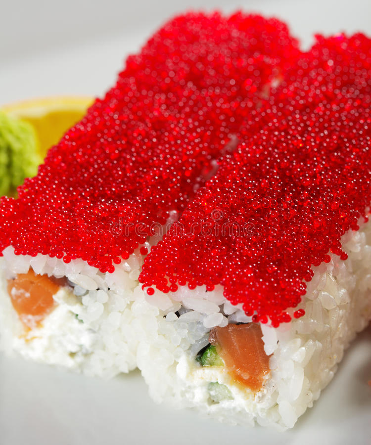 Download Salmon And Tobiko Maki Sushi Stock Photo - Image: 11614138
