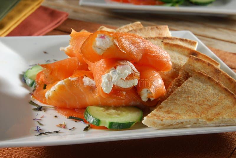 Salmon Wraps image stock