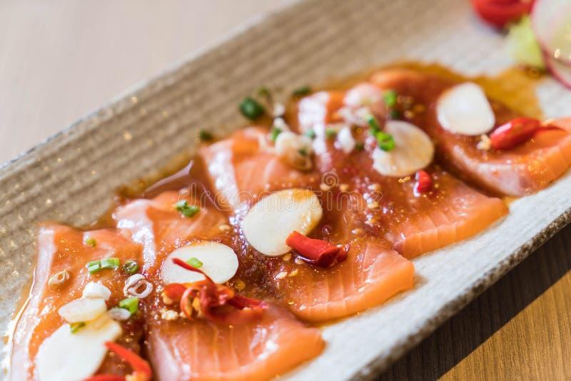 salmone affettato piccante fotografia stock libera da diritti