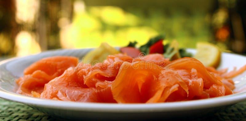 Salmone affumicato immagine stock