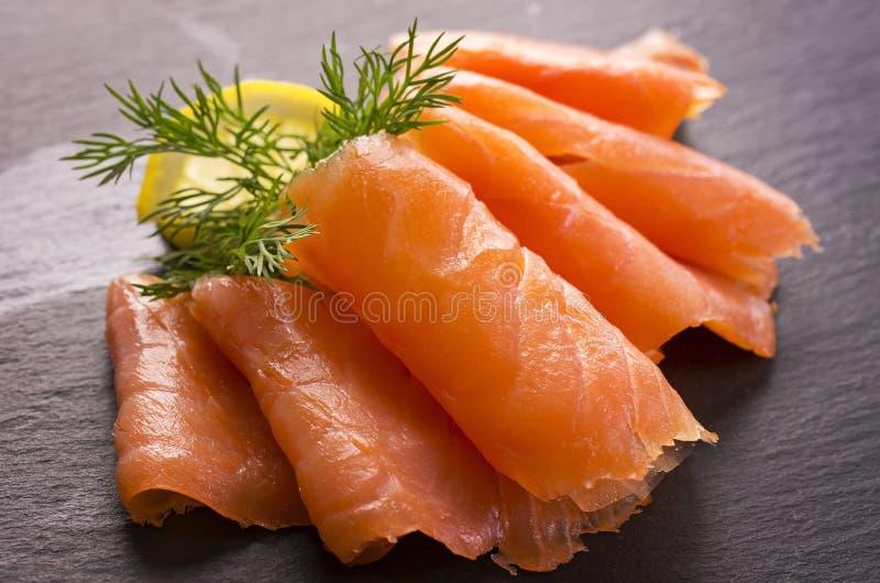 Salmone affumicato fotografie stock libere da diritti