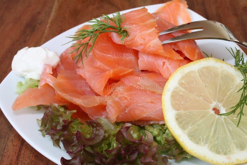 Salmone affumicato scozzese fotografie stock