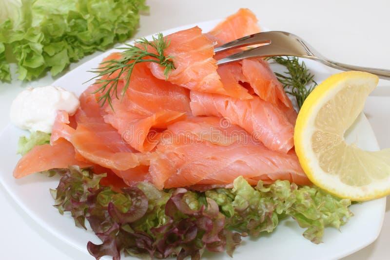 Salmone affumicato scozzese fotografia stock libera da diritti