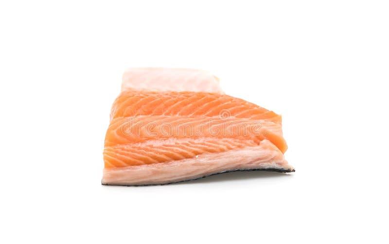 Salmone fresco su bianco immagini stock