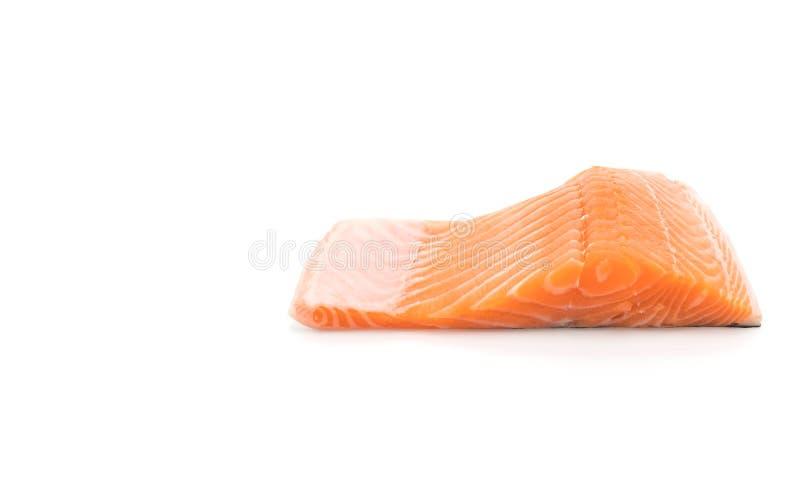Salmone fresco su bianco fotografia stock libera da diritti