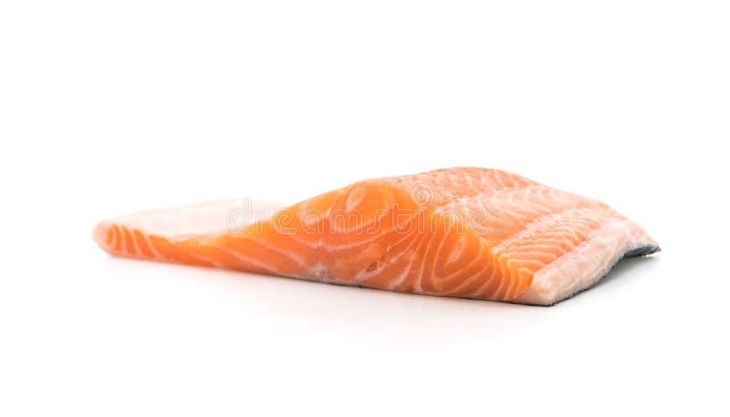 Salmone fresco su bianco fotografie stock