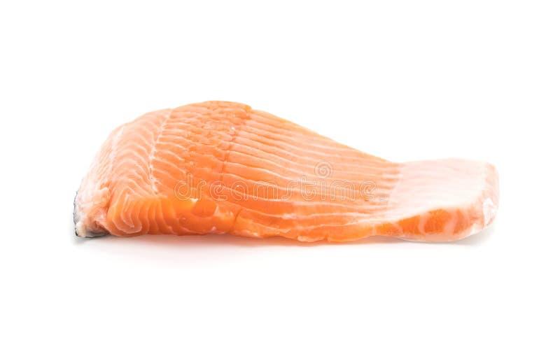 Salmone fresco su bianco fotografie stock libere da diritti