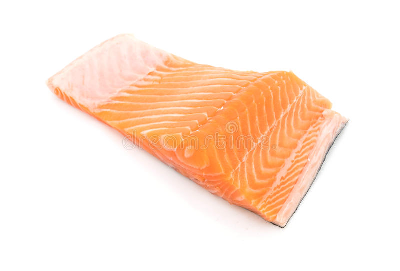 Salmone fresco su bianco immagine stock