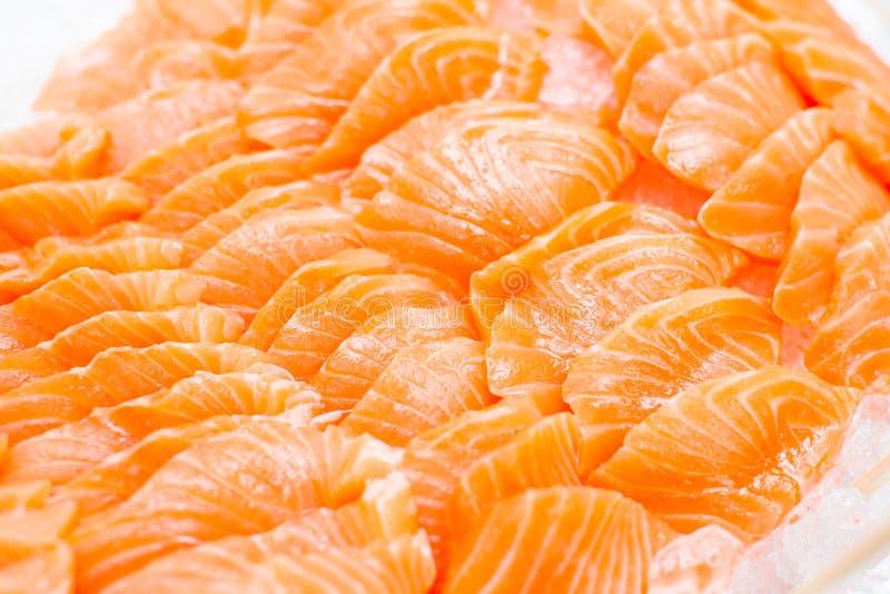 Salmone su ghiaccio fotografia stock