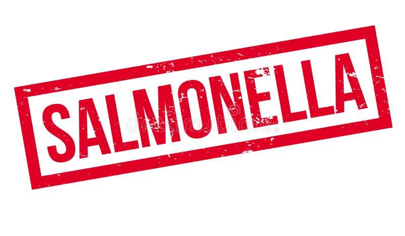 Salmonella's rubberzegel stock illustratie