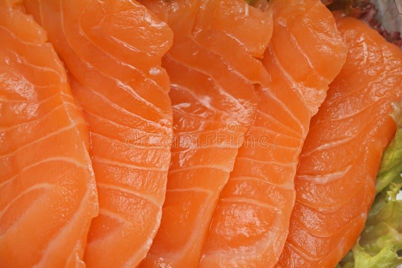 Salmones del Sashimi imagen de archivo libre de regalías