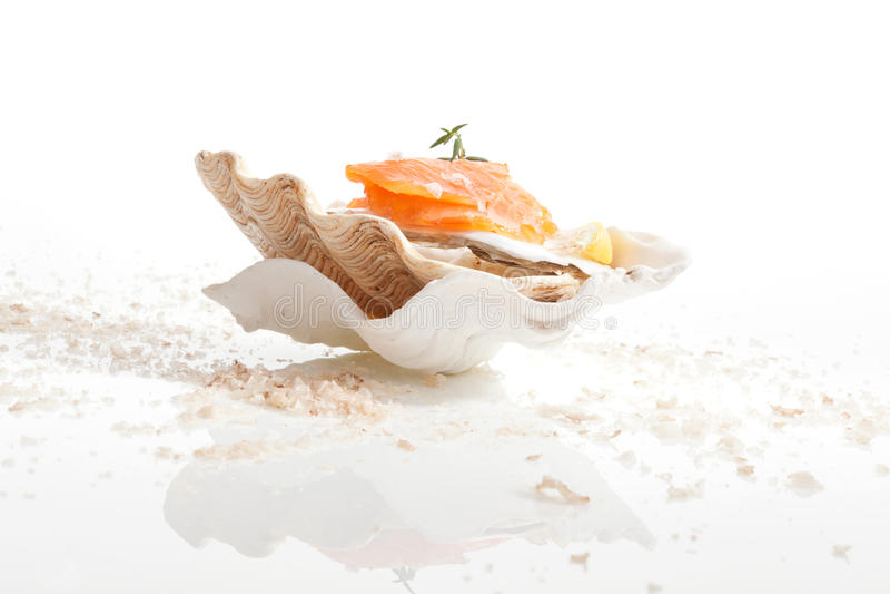 Salmones. Fondo culinario de los mariscos. fotografía de archivo