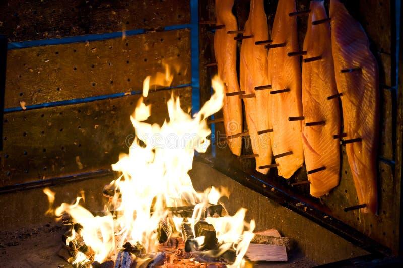 Salmones fumados imagen de archivo