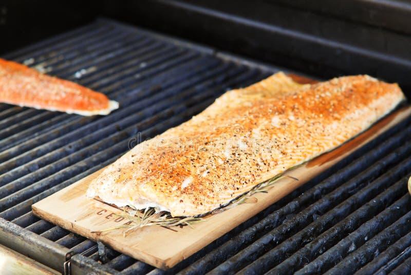 Salmoni affumicati del cedro fotografie stock libere da diritti