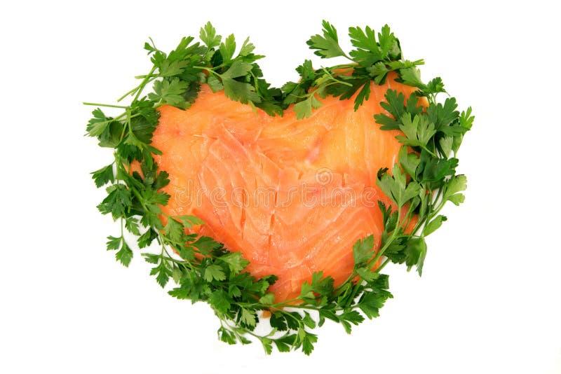 Salmoni affumicati isolati fotografia stock libera da diritti