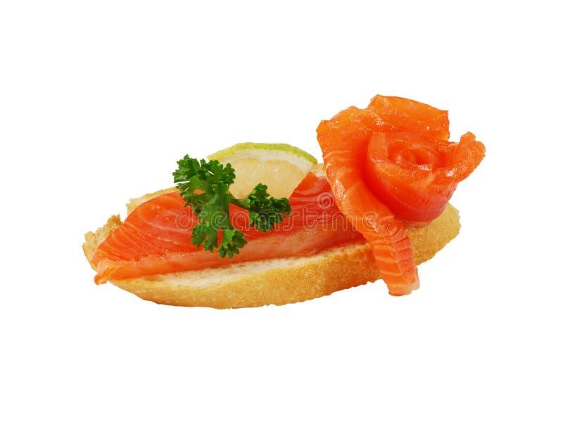 Salmoni affumicati squisiti fotografie stock libere da diritti