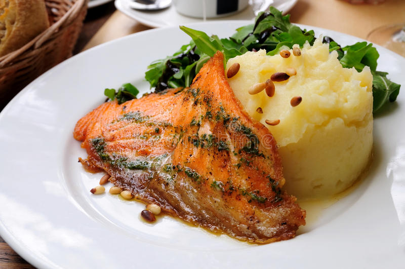 Salmoni cotti fotografie stock