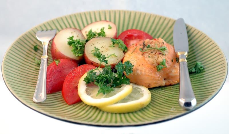 Salmoni per il pranzo fotografia stock libera da diritti