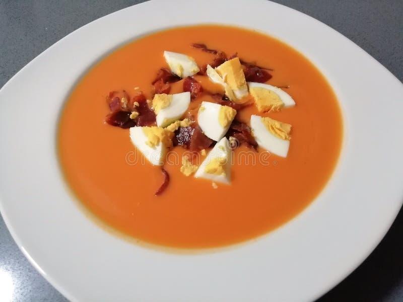 Salmorejo: Spaans typisch voedsel stock foto's